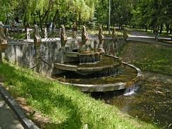 Водный каскад в парке Шевченко