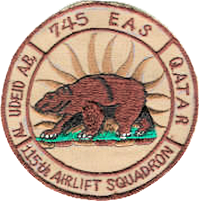 115th Airlift Squadron and 745th Expeditionary Airlift Squadron, Al Udeid AB, Qatar (Home Station: Channel Islands AGS, Oxnard, California, 2005)