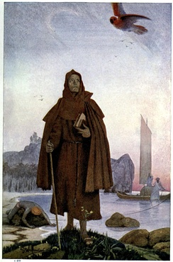 A Christian missionary friar landing in southern India (14th Century)