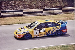 Menu driving for Renault in the 1996 British Touring Car Championship season.