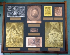 Selection of early etched printing plates from the British Museum