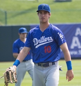Bellinger as a member of the Tulsa Drillers