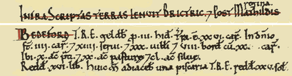 Domesday Book entry for Bedeford