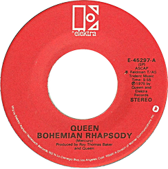 One of Side-A labels of the US single release