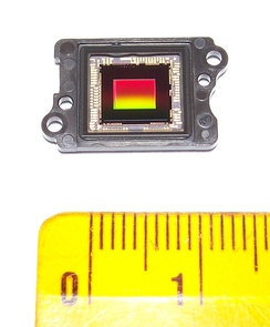 "CMOS Sony EXMOR R IMX055CHL sensor side+size meter 1/4"" 4.2 megapixels FullHD from Video Camera Sony HDR-CX110"