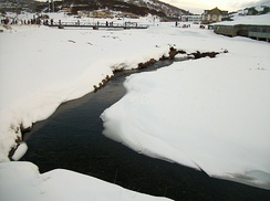 Creek in Perisher Ski Resort, Australia