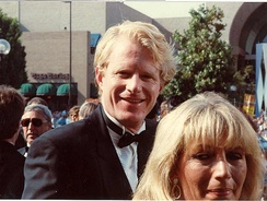 Begley and Penny Marshall on the red carpet at the 40th Primetime Emmy Awards, August 28, 1988