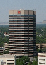 First Interstate Center in downtown Billings, the tallest building in Montana