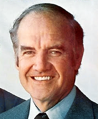 McGovern as seen in a 1972 campaign poster