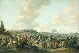 The departure of Charles II from Scheveningen (1660).
