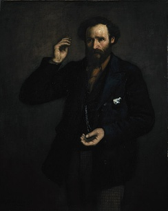 Portrait of ILP leader Keir Hardie painted at the time of the foundation of the organisation in 1893.