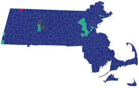 Town results of the Massachusetts Republican presidential primaries, 2016.  Donald Trump   John Kasich   Marco Rubio   Tie