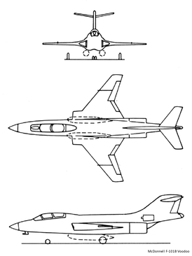 Line drawings for the F-101B.