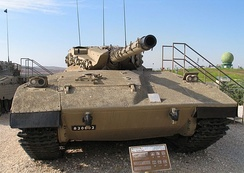 The Israeli Merkava Mark I tank was used throughout the First Lebanon War
