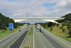 The M1 in Barnsley, heading north towards Leeds