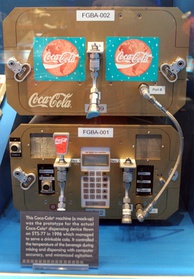 Astronauts served Coca-Cola from this device on the Space Shuttle in 1995.