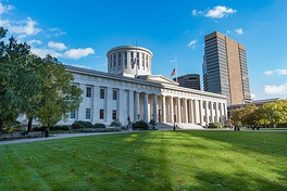 The Ohio Statehouse, home to the Ohio General Assembly
