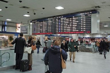 Amtrak departure board, removed in 2017