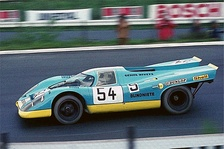 Group 5 Porsche 917 competing in the 1970 International Championship for Makes