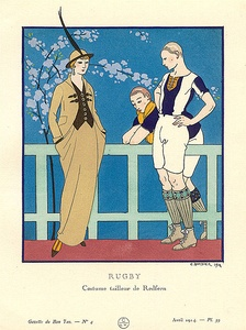 Pre-sportswear tailormade by Redfern. Bon Ton, April 1914.