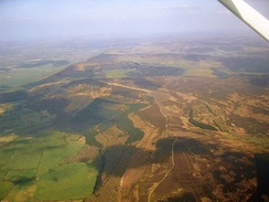 Aerial photo of the North York Moors