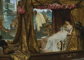 The Meeting of Antony and Cleopatra, by Lawrence Alma-Tadema, 1884