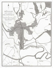 Srinagar city and its vicinity in 1959