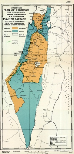 Proposed separation of Palestine
