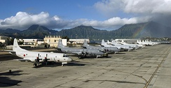 P-3 Orions from Japan, Canada, Australia, Republic of Korea and the United States at MCAS Kaneohe Bay during RIMPAC 2010.