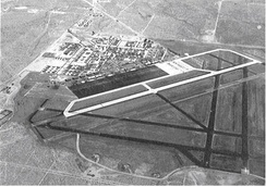 Victorville Army Air Field, looking southeast, August 1943.