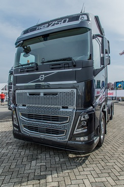 A 2013 model Volvo FH16. The Volvo FH series was introduced in 1993 and is Volvo Trucks' most commercially successful truck.