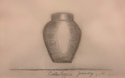 Vase (1893), example of Edward Hopper's earliest signed and dated artwork with attention to light and shadow.