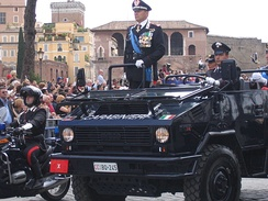 Senior Carabinieri General in a VM 90 during the 2007 Republic Day parade in Italy
