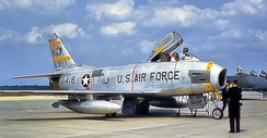 81st FBS F-86H 53-1418 upon arrival at Toul-Rosières Air Base, France, Summer 1956