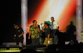The surviving members of A Tribe Called Quest performing on their final tour
