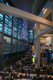 Amway Center main entrance at the opening game of 2010–11 regular season Orlando Magic