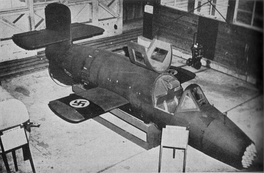 A captured Ba 349 A1 Natter on display for Open Days at Freeman Field, Indiana September 1945. The swastikas are neither authentic nor positioned according to German military specifications.
