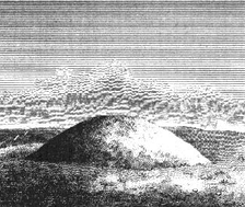 Engraving of a bowl barrow by Richard Colt Hoare
