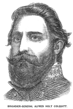 Portrait of Colquitt from a Richmond newspaper in 1863.
