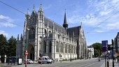 The Church of Our Blessed Lady of the Sablon, built in the Sablon/Zavel district in the historic centre of Brussels (Belgium), built between the 13th-15th centuries