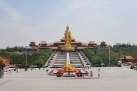 Temple of the Great Buddha in Midong, Urumqi, Xinjiang. China has many of the tallest statues in the world, and most of them represent deities and buddhas.