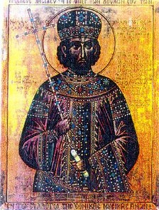 Modern icon depicting Constantine XI Palaiologos, last emperor of the Roman (Byzantine) Empire