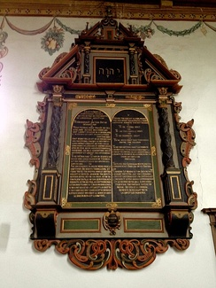 The decalog of the reformed church of Ligerz, Switzerland