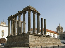 Roman Temple of Évora, one of the best preserved Roman-built structures in the country