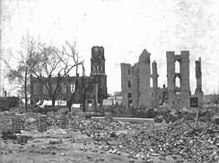 Ruins of the courthouse and armory from the Great Fire of 1901