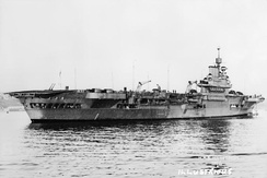 HMS Illustrious, upon which Hordern served during the Second World War