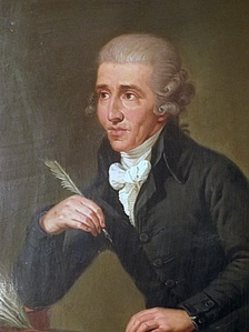 Portrait by Ludwig Guttenbrunn, painted c. 1791–92, depicts Haydn c. 1770