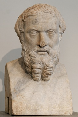 Herodotus (c. 484–c. 425 BC) was a Greek historian who lived in the 5th century BC and one of the earliest historians whose work survives.