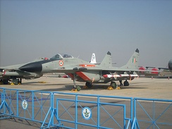 MiG-29 of the Indian Air Force at Aero India 2009