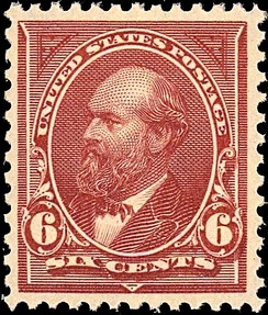 Garfield, Issue of 18941st postage stamp printed by BEP